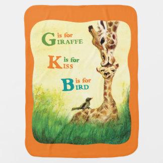 G is for Giraffe Baby Blanket