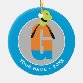 G is for Goofy | Add Your Name Ceramic Ornament