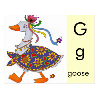 G is for Goose Postcard