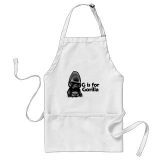 G is for Gorilla Standard Apron