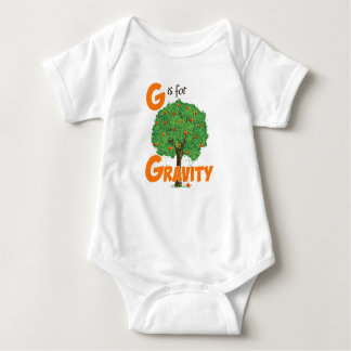 G is for Gravity Cute Physics & Science Design Baby Bodysuit