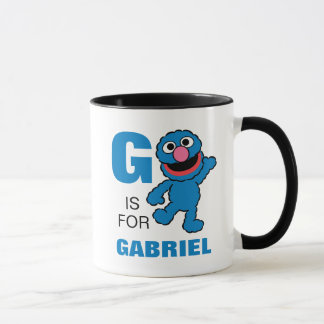 G is for Grover | Add Your Name Mug