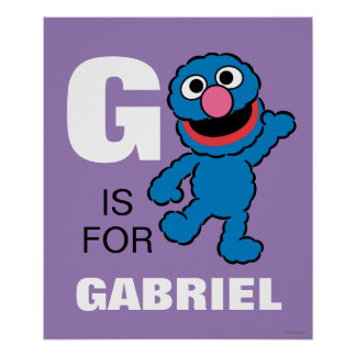 G is for Grover   Add Your Name Poster