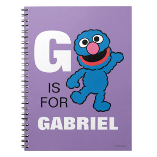 G is for Grover | Add Your Name Spiral Notebook