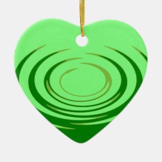 G Jade Ripples Ceramic Heart Decoration