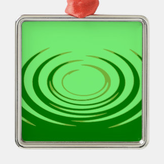 G Jade Ripples Silver-Colored Square Decoration