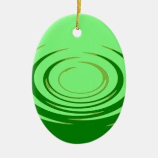 G Jade Ripples Ceramic Oval Decoration