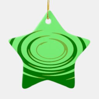 G Jade Ripples Ceramic Star Decoration