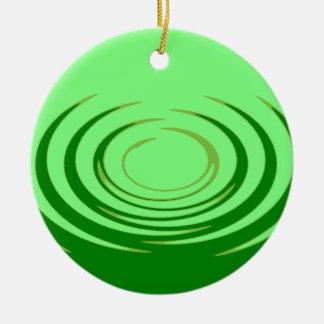 G Jade Ripples Round Ceramic Decoration