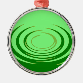 G Jade Ripples Silver-Colored Round Decoration