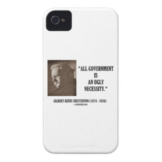 G.K. Chesterton All Government Is Ugly Necessity Case-Mate iPhone 4 Case