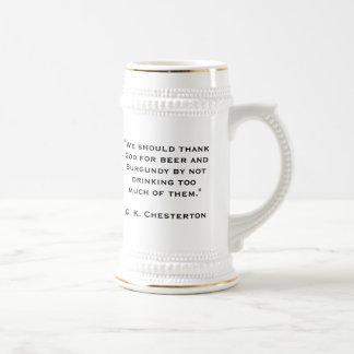 G. K. Chesterton Beer Stein