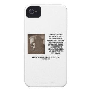 G.K. Chesterton Imagination Insanity Creative iPhone 4 Case