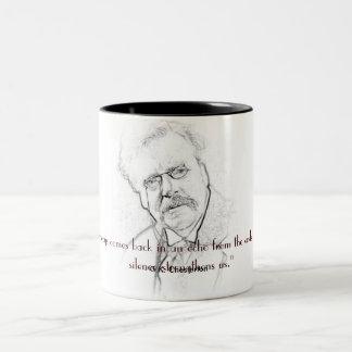 G. K. Chesterton on Silence Two-Tone Coffee Mug