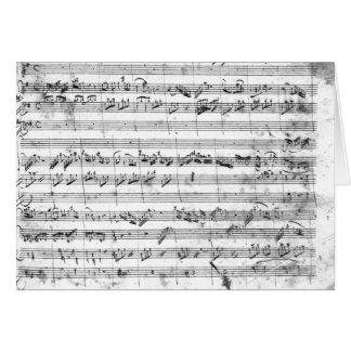 G major for violin, harpsichord and violoncello 2 card
