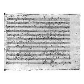 G major for violin, harpsichord and violoncello 3 postcard