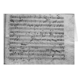 G major for violin, harpsichord and violoncello card