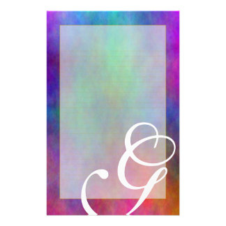 """G Monogram """"Garden Sunlight"""" Fine Lined Customised Stationery"""