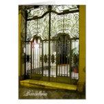 g/nc Barcelona L'Eixample Door Barcelona Greeting Card