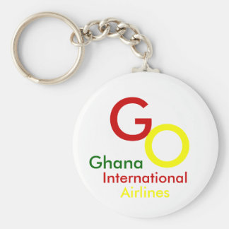 G, O, Ghana, International, Airlines Basic Round Button Key Ring