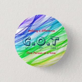 """G.O.T"" customer service? 3 Cm Round Badge"