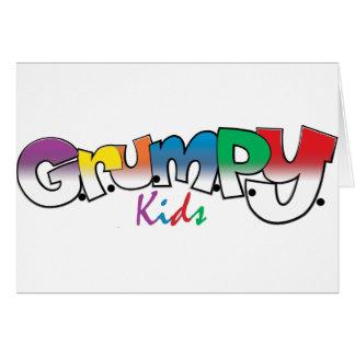 G.R.U.M.P.Y. Kids Wear Greeting Card