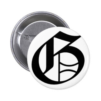G-text Old English Pinback Button