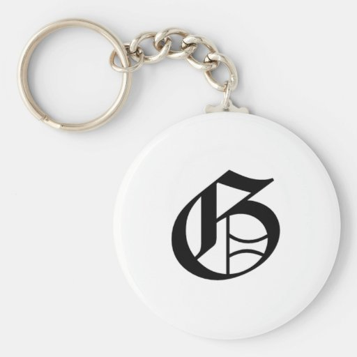 G-text Old English Key Chains