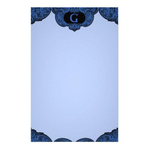 G - The Falck Alphabet (Blue) Stationery Paper