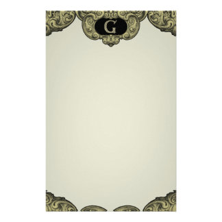 G - The Falck Alphabet (Golden) Personalized Stationery