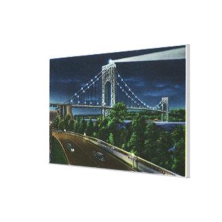 G. Washington Bridge, Hudson at Night Gallery Wrap Canvas