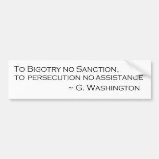 G. Washington Quote Bumper Sticker