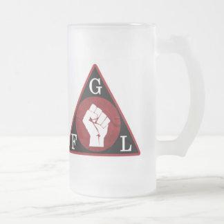 Gabber hero beer glass frosted glass mug