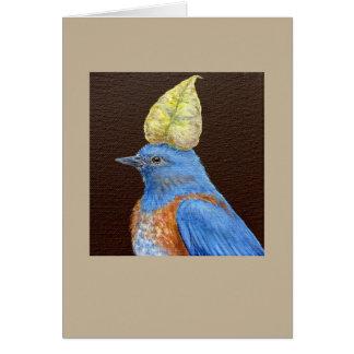 Gabe the western bluebird card