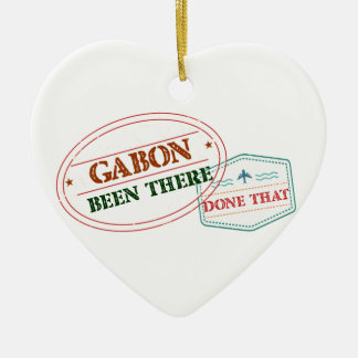 Gabon Been There Done That Ceramic Ornament