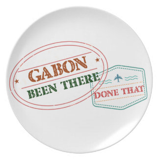 Gabon Been There Done That Plate
