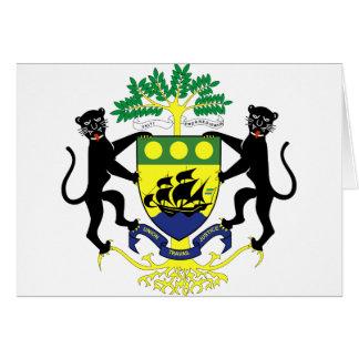 Gabon coat of arms card