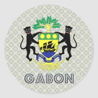 Gabon Coat of Arms Classic Round Sticker