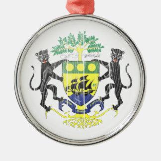 Gabon Coat Of Arms Metal Ornament