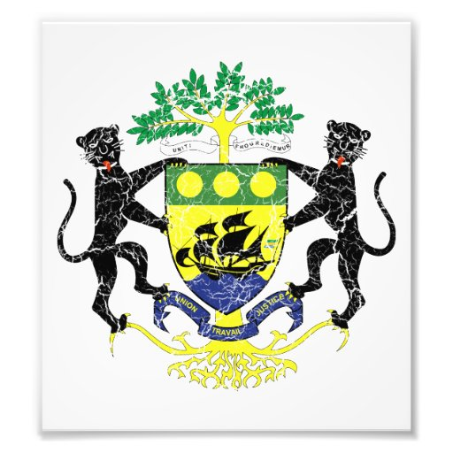 Gabon Coat Of Arms Photographic Print