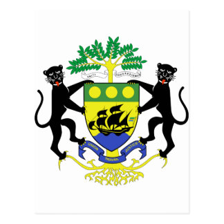 Gabon Coat of Arms Postcard