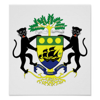 Gabon Coat Of Arms Poster