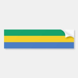 Gabon Flag Bumper Sticker