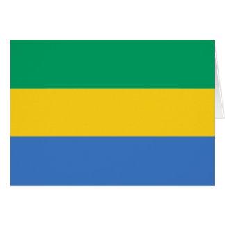 Gabon Flag Card