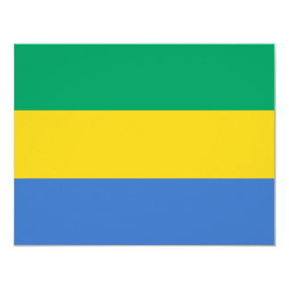 Gabon Flag Card