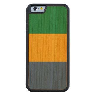 Gabon Flag Carved Cherry iPhone 6 Bumper Case