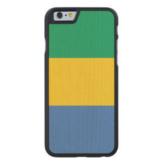 Gabon Flag Carved Maple iPhone 6 Case