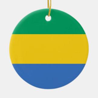 Gabon Flag Ceramic Ornament