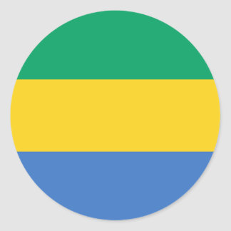 Gabon Flag Classic Round Sticker
