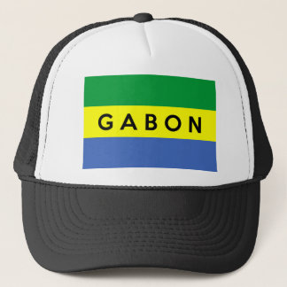 gabon flag country text name trucker hat